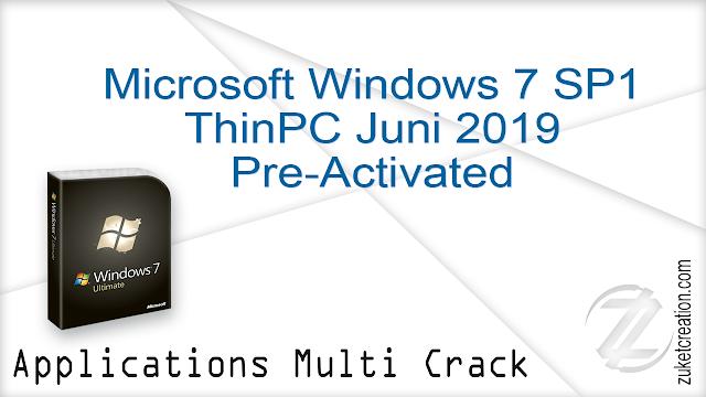 Microsoft Windows 7 SP1 ThinPC Juni 2019 Activated    |  2.08 GB