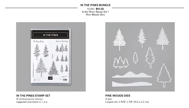 Pines Trees  Stamp Set and Dies bundle from Stampin' Up!