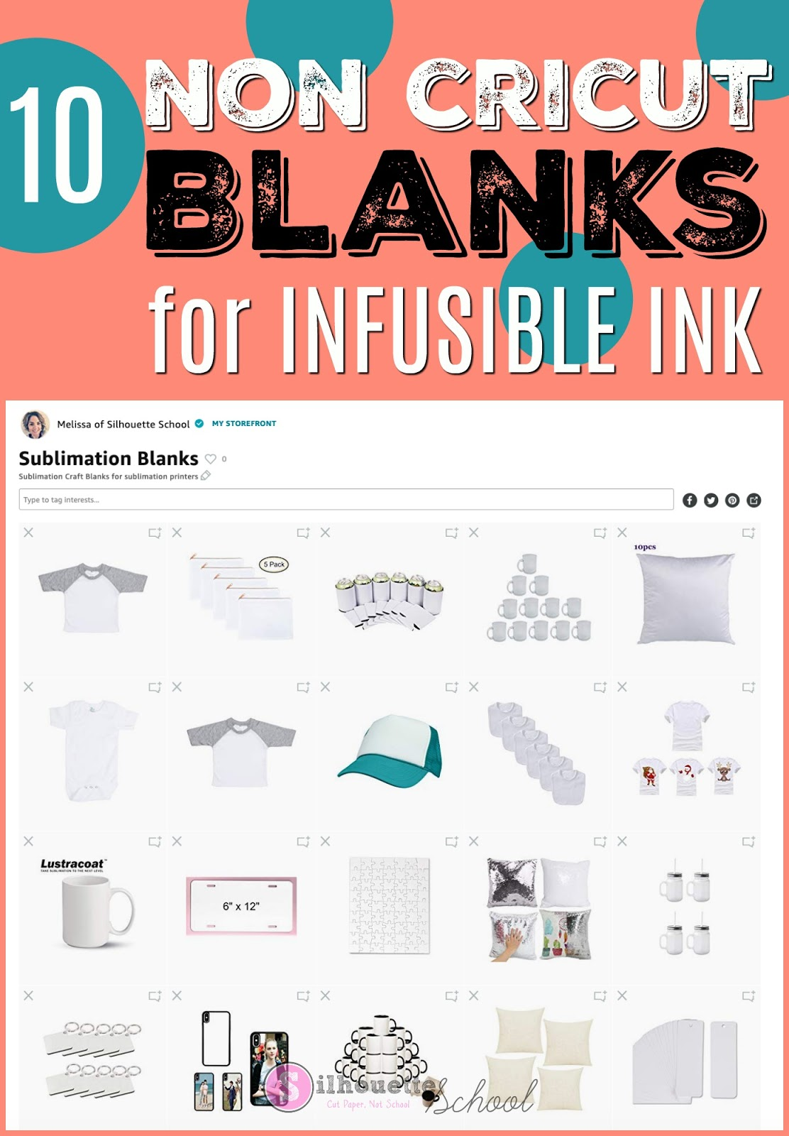 10 Non Cricut Infusible Ink Blanks You Can Use with