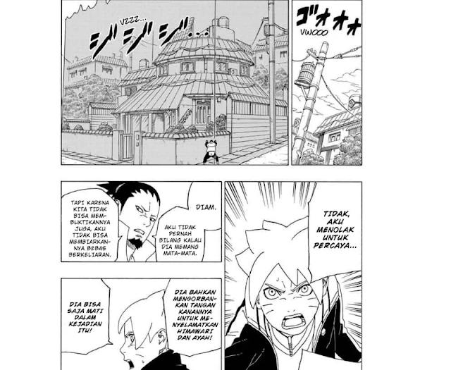 Spoiler Manga Boruto 40 - Menemukan Jejak Hokage I Bertarung Boro Kara