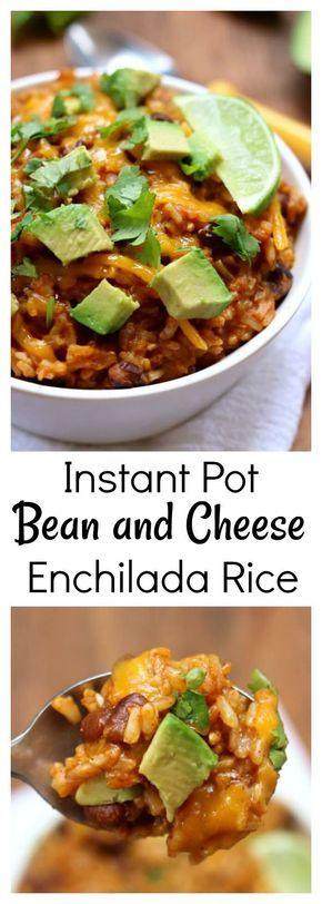 Instant Pot Cheesy Enchilada Rice