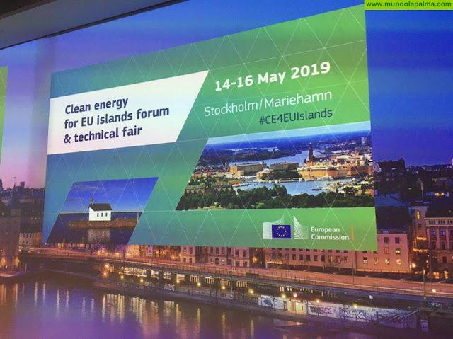 El proyecto La Palma Renovable se presenta en el Foro de Energía Limpia para las Islas de la UE en Estocolmo