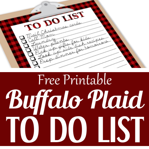 buffalo plaid to do list free printable
