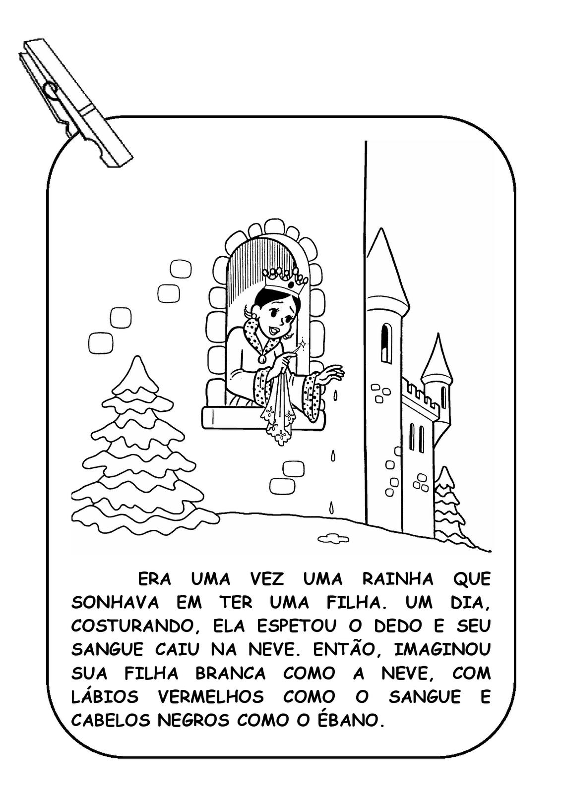 Alfabetizando Com Monica E Turma Varal De Historia Branca De Neve