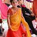 Cute Girl in Orange Yellow Half Saree