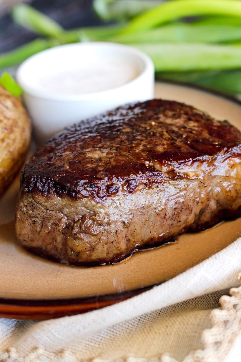 Perfect Pan-Seared Filet Mignon will be the star of your special occasion menu. It's super easy to prepare, melt in your mouth delicious, and cooked to perfection every time!