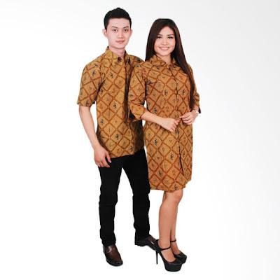 Model baju batik couple lengan pendek