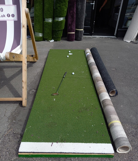 Golf Putting Green at Style Carpets in Cleveleys