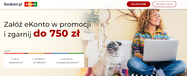 Jak zyskać 750 zł za eKonto osobiste w mBanku?