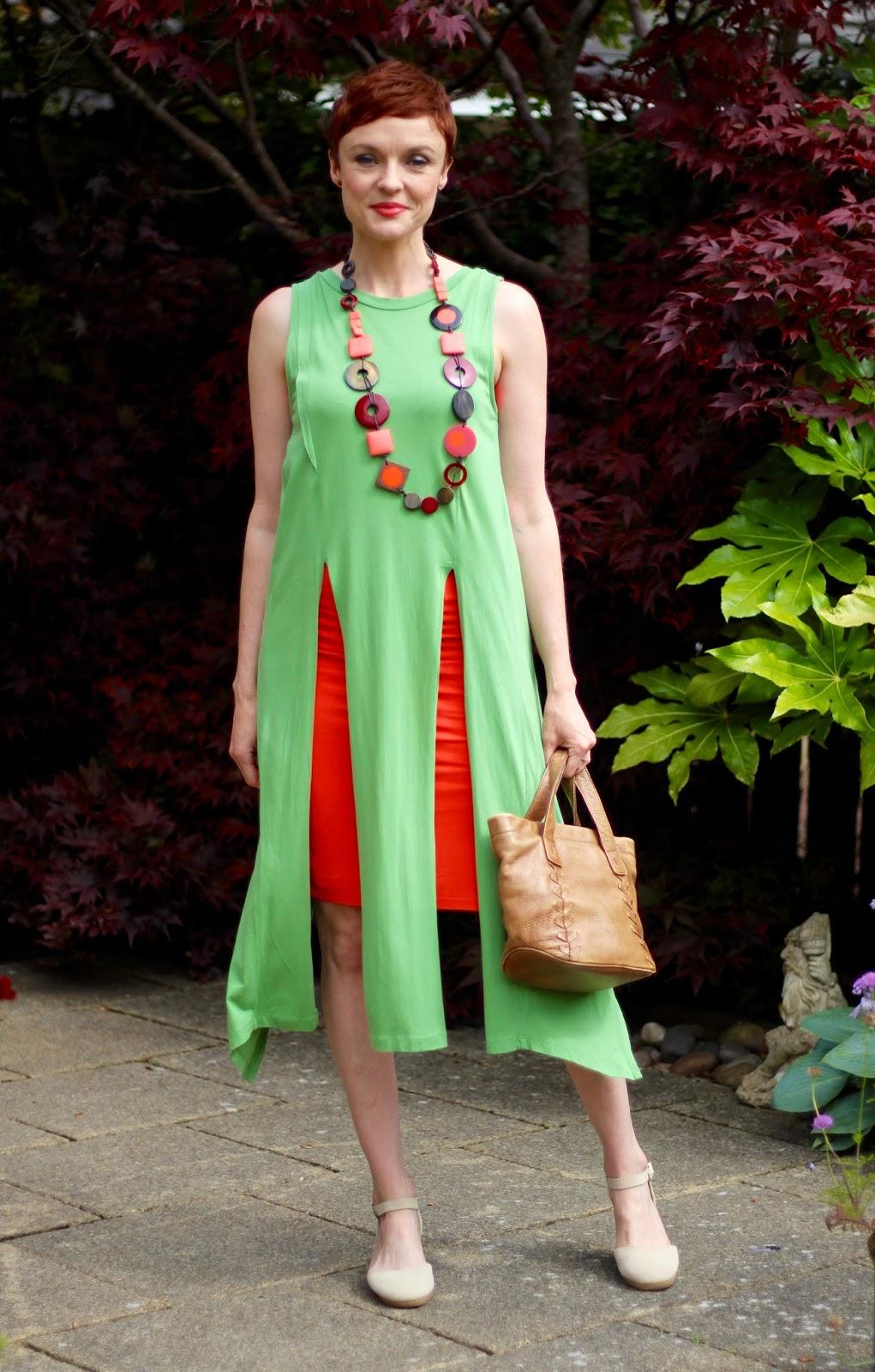 How to Tone Down a Tight Dress | Orange & Green | Fake Fabulous