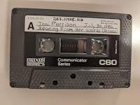 Cassette of Toni Morrison speaking. July 30, 1986. Reading excerpt from Beloved