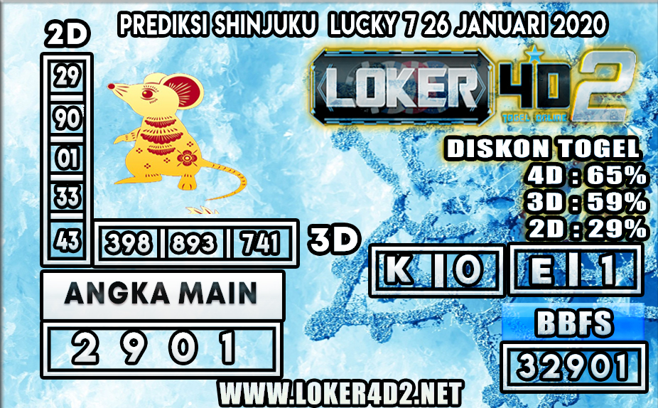 PREDIKSI TOGEL SHINJUKU LUCKY 7 LOKER4D2 26 JANUARI 2020