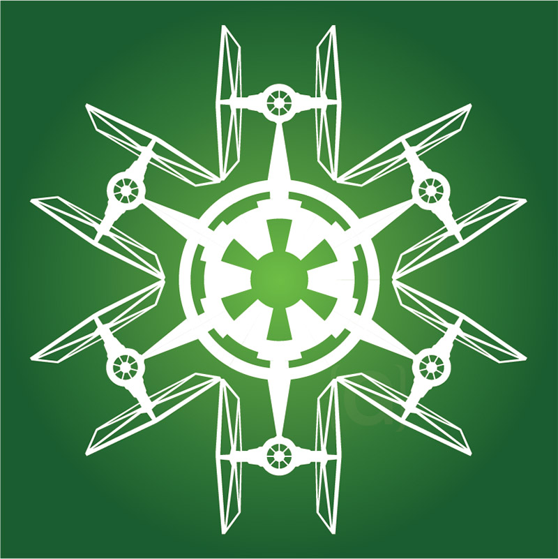 star wars tie fighter snowflake