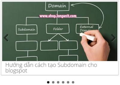 Tổng hợp các kiểu slider bài viết blogger