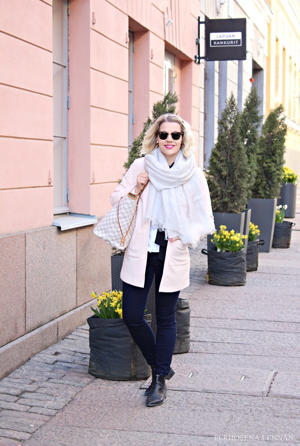 h&m classy preppy helsinki outfit persikka koralli fashion my style