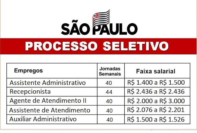 Processos Seletivos abertos em SP para níveis médio e superior. Veja como se inscrever