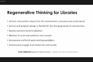 Six steps on regenerative thinking for libraries