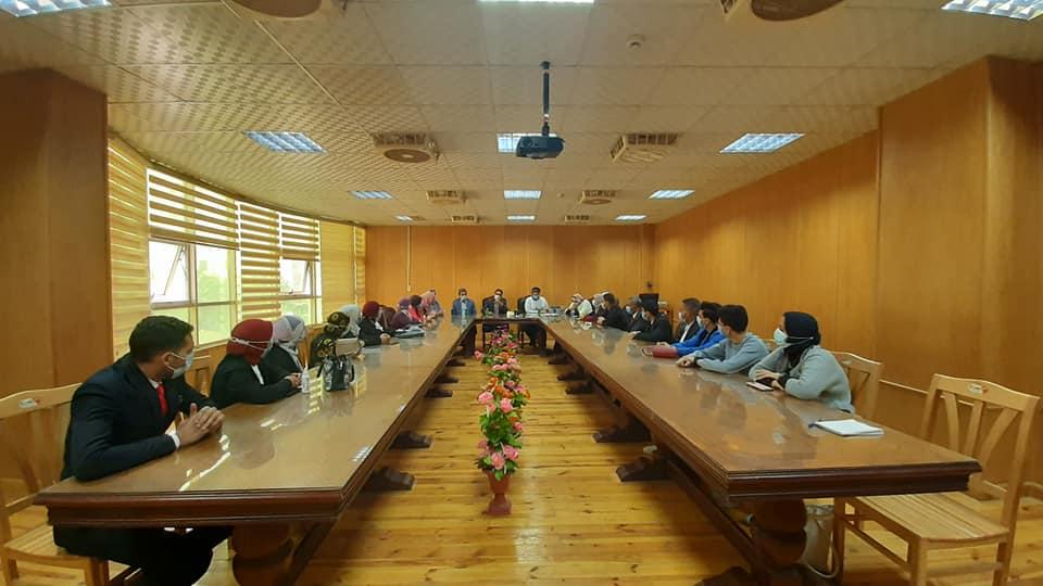 برعاية معالي الأستاذ الدكتور منصور حسن رئيس الجامعة تنصيب اتحاد طلاب كلية الإعلام بجامعة بني سويف