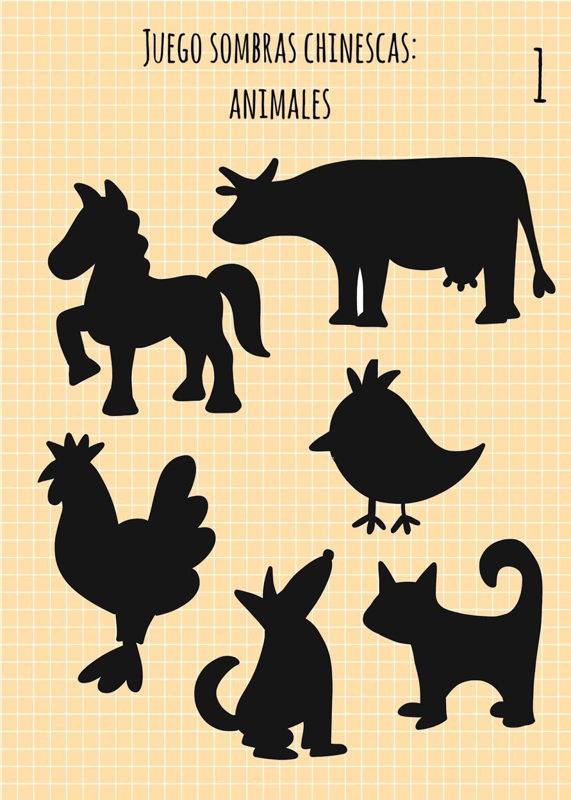 BarcelonaDraw  Juego de sombras de animales para imprimir