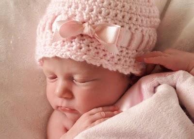 Patrones gorros a crochet para bebes
