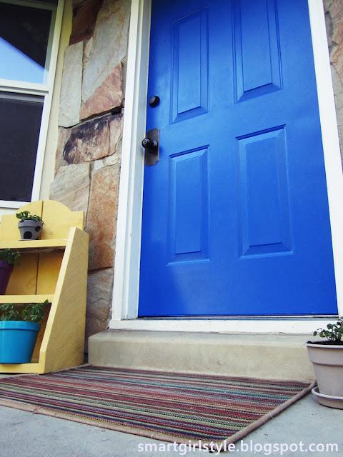 smartgirlstyle: Cobalt Blue Front Door