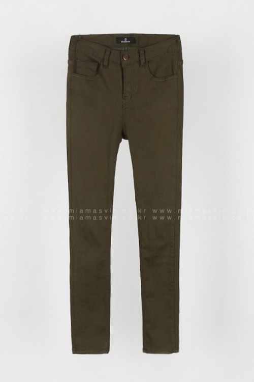Solid Tone Slim Fit Pants