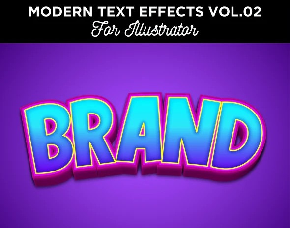 Cartoon Text Effect for Illustrator 28406677