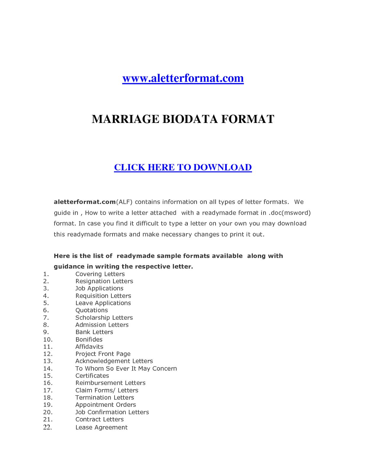 marriage resume format marriage resume format for girl in word marriage resume format for boy marriage resume format for girl marriage resume format doc marriage resume format in marathi