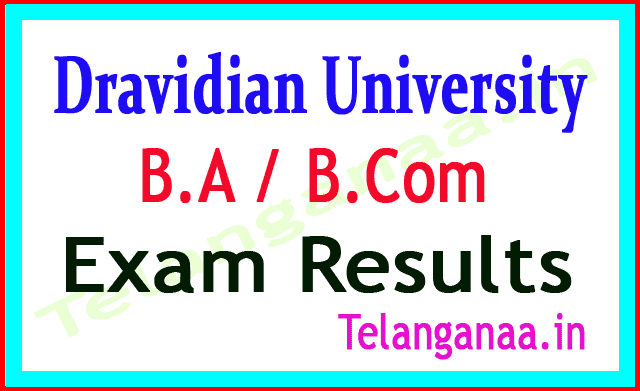 Dravidian University B A / B Com Supply Exam Results