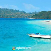 aktivitas santai di pantai pulau peucang ujung kulon