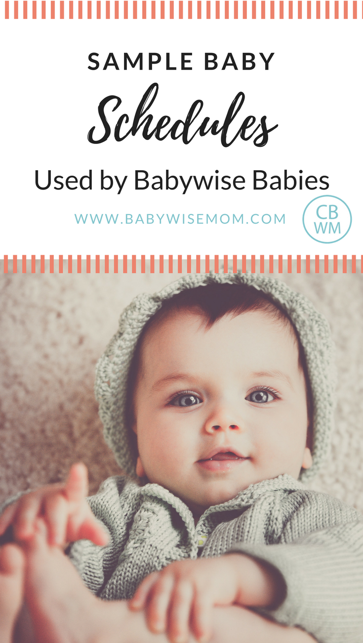 Sample Babywise Schedules | Babywise | Baby schedules | #babywise #babyschedules