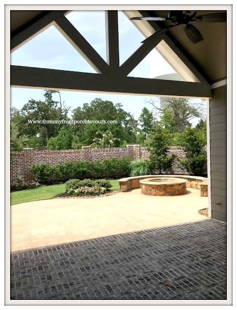 Model- Home-Tour-French-Flare-Covered Patio-Firepit-From My Front Porch To Yours