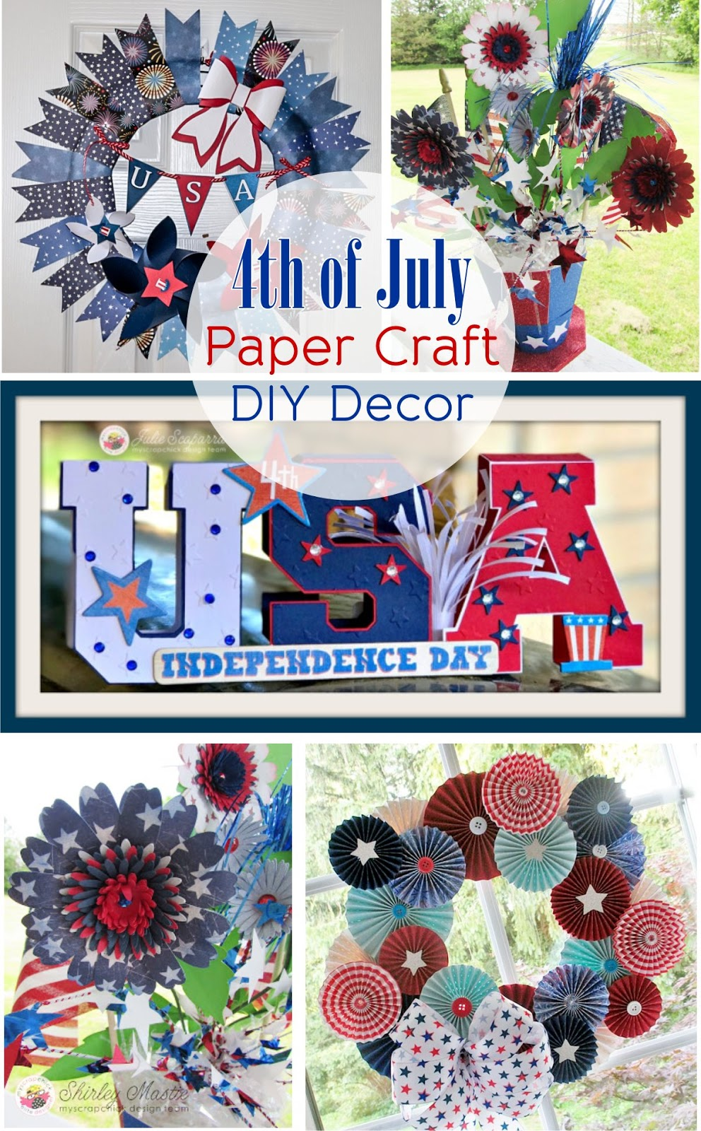 Patriotic Wreaths And Decor For Diy Paper Crafts Myscrapchick