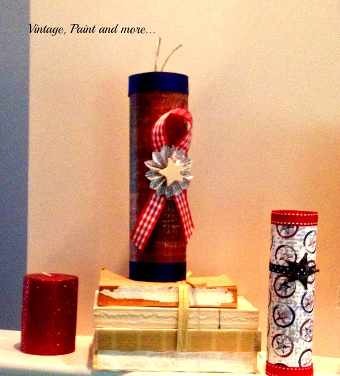 Vintage, Paint and more... 4th of July crafts made from paper, vintage patriotic paper crafts, american decor