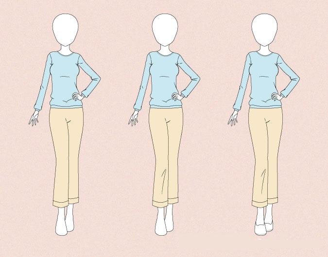 Menggambar celana anime di tubuh