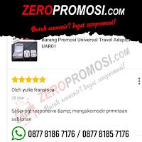 Testimoni Pembelian Souvenir Travel Adaptor UAR01