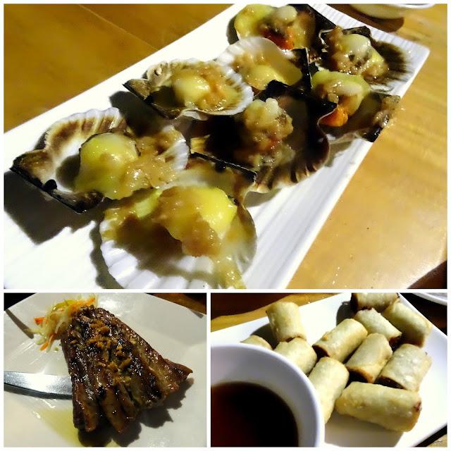 Baked Scallops Tuna Belly Lumpia Shanghai Lantaw Busay