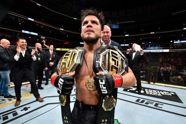 Henry Cejudo UFC Champion Belts