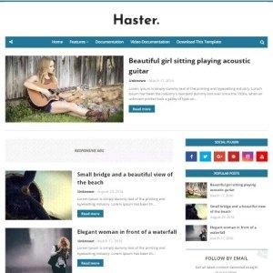 Haster free blogger theme