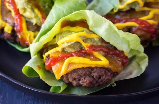 Cheeseburger Lettuce Wraps #healthy #keto