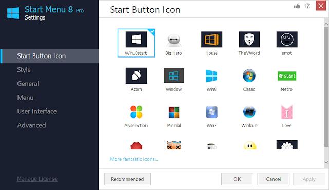 Screenshot IObit Start Menu 8 Pro 5.1.0.1 Full Version