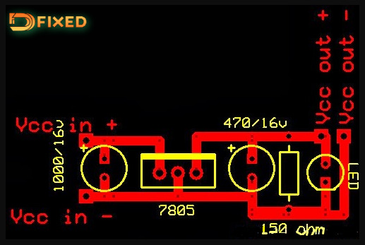 Skema jalur Rangkaian Power Bank pada tampilan PCB