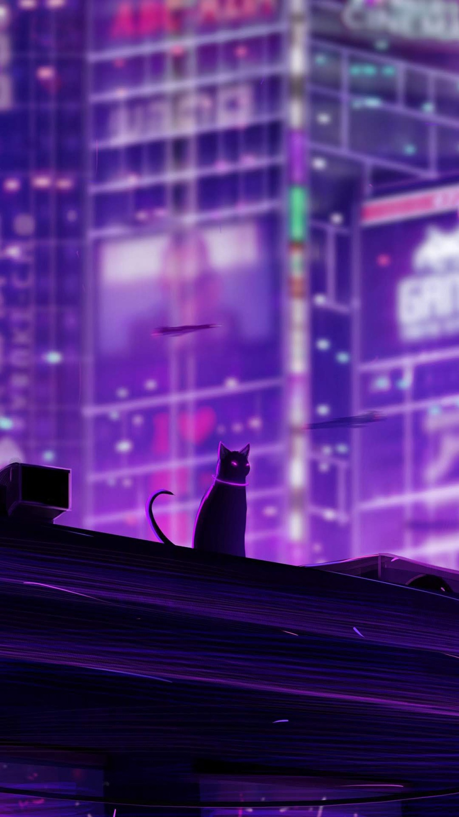 cat wallpaper aesthetic