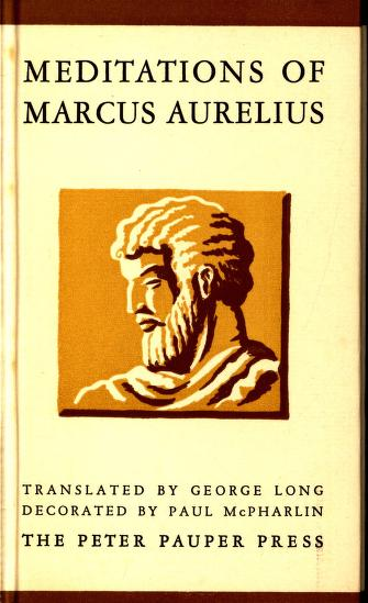 Meditations of Marcus Aurelius 1957 Translated by George Long