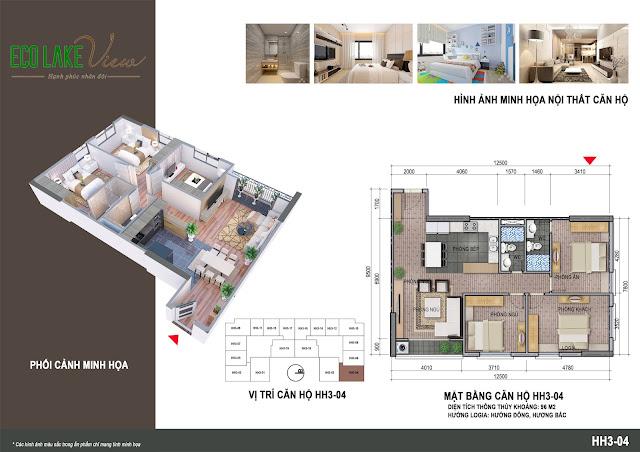 Thiết kế căn hộ số 04 tòa HH03