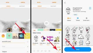 Cara Mengganti Foto Kontak dengan Stiker Lucu Fitur Samsung