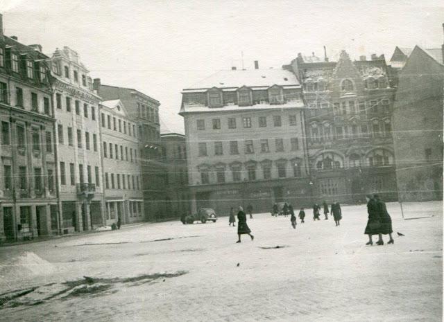 1960-е годы. Рига. Площадь 17 Июня. Улицы Шкюню и Тиргоню