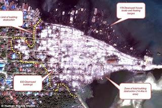 بالصور.. الأقمار الصناعية تكشف, ابادة  قرية مسلمة فى بورما بالكامل