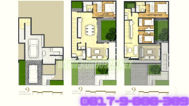 Rumah Lancewood Navapark BSD City 9X20 Corner