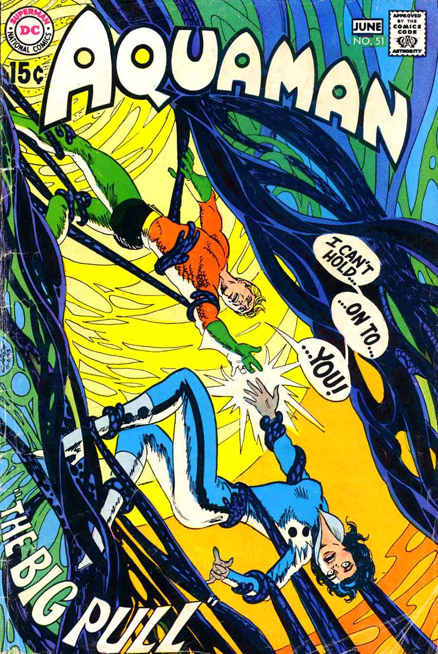 Aquaman v1 #51 dc 1970s bronze age comic book cover art by Nick Cardy